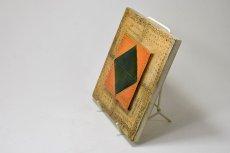 画像4: 北欧ビンテージ/北欧アート/Rut Bryk/ルート・ブリュック/陶板/アートオブジェクト/オレンジ&グリーン/No.2/委託品 (4)