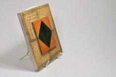 画像3: 北欧ビンテージ/北欧アート/Rut Bryk/ルート・ブリュック/陶板/アートオブジェクト/オレンジ&グリーン/No.2/委託品 (3)