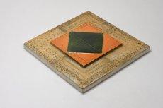 画像5: 北欧ビンテージ/北欧アート/Rut Bryk/ルート・ブリュック/陶板/アートオブジェクト/オレンジ&グリーン/No.2/委託品 (5)