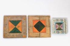 画像10: 北欧ビンテージ/北欧アート/Rut Bryk/ルート・ブリュック/陶板/アートオブジェクト/オレンジ&グリーン/No.2/委託品 (10)