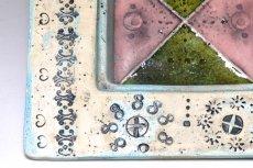 画像2: 北欧ビンテージ/北欧アート/Rut Bryk/ルート・ブリュック/Ashtray/アートオブジェクト/11cm/ホワイト&ブルー系/委託品 (2)