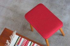 画像4: 北欧ビンテージ家具,スウェーデン/スツール/オットマン レッド (4)