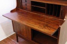 画像2: 北欧ヴィンテージ家具/デンマーク ブックシェルフ+ライティングデスク ローズウッド (2)