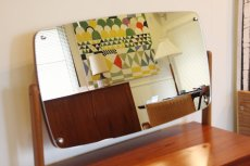 画像2: 北欧ビンテージ家具/デンマーク製 チーク×オーク ドレッサー 鏡 (2)