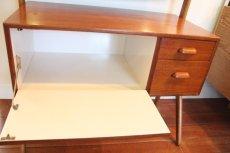 画像4: 北欧ビンテージ家具/デンマーク製 チーク×オーク ドレッサー 鏡 (4)