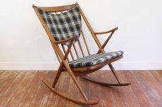 画像1: 北欧ビンテージ家具/ロッキングチェア/Bramin Mobler社製/デンマーク (1)