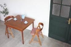 画像2: 北欧ビンテージ家具/デンマーク製/正方形チークダイニングテーブル  (2)
