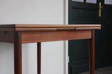 画像7: 北欧ビンテージ家具/デンマーク製/正方形チークダイニングテーブル  (7)