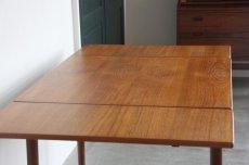 画像5: 北欧ビンテージ家具/デンマーク製/正方形チークダイニングテーブル  (5)