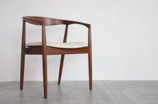 画像1: 北欧ビンテージ家具/デンマーク製/カイ・クリスチャンセン/アームチェア革張替え (1)
