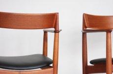 画像8: 北欧ビンテージ家具/デンマーク製/Henry Rosengren Hansen /カンファレンスチェア/チーク アーム付き (8)