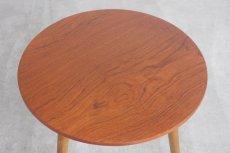 画像3: 北欧ビンテージ家具/デンマーク製/ラウンドサイドテーブル/チーク (3)
