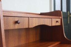 画像3: 北欧ビンテージ家具/デンマーク製 チークライティングビューロー/3段引き出し (3)
