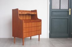 画像6: 北欧ビンテージ家具/デンマーク製 チークライティングビューロー/3段引き出し (6)