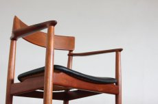 画像5: 北欧ビンテージ家具/デンマーク製/Henry Rosengren Hansen /カンファレンスチェア/チーク アーム付き (5)