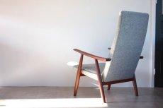 画像3: 北欧家具 / ヴィンテージ / Hans j Wegnerハンス J ウェグナー / GE260A イージーチェアハイバック / デンマーク製ファブリック (3)