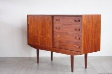 画像3: 北欧ビンテージ家具/デンマーク製/チークサイドボード (3)