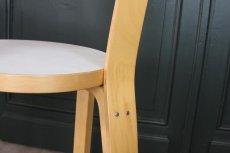 画像4: 北欧ビンテージ家具/アルヴァ・アアルト/チェア66/ナチュラル×ホワイト (4)
