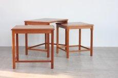 画像5: 北欧ビンテージ家具/デンマーク/チークネストテーブル  (5)