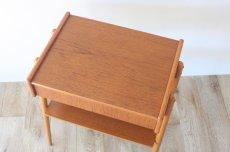 画像3: 北欧ビンテージ家具/スウェーデン/チーク×ビーチ/ベッドサイドテーブル (3)