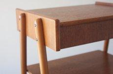 画像2: 北欧ビンテージ家具/スウェーデン/チーク×ビーチ/ベッドサイドテーブル (2)