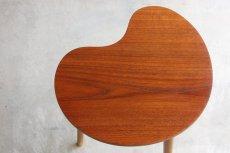 画像3: 北欧ビンテージ家具/デンマーク/チーク/サイドテーブル/ビーンズ型 (3)