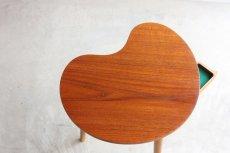 画像5: 北欧ビンテージ家具/デンマーク/チーク/サイドテーブル/ビーンズ型 (5)
