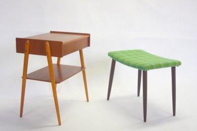 画像3: 北欧ビンテージ家具/スウェーデン/チーク×ビーチ/ベッドサイドテーブル