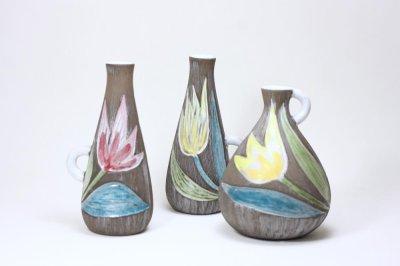 画像1: Upsala Ekeby/ウプサラ エキュビ/マリ・シムルソン/チューリップ花瓶/一輪挿し 丸形/No.2