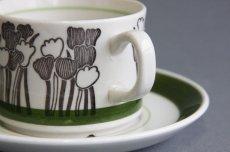 画像2: Upsala Ekeby ウプサラ GEFLEゲフレ Tulpanチューリップ コーヒーカップ&ソーサー (2)