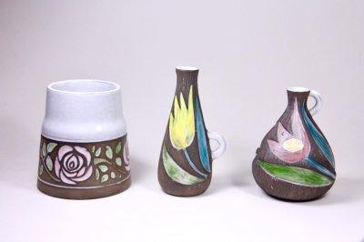 画像1: Upsala Ekeby/ウプサラ エキュビ/マリ・シムルソン/バラ花瓶/No.3