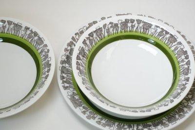 画像1: 北欧ヴィンテージ食器/Upsala Ekeby/ウプサラ/GEFLE/ゲフレ/Tulpan/チューリップ/ディナープレート