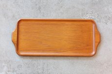 画像1: 北欧雑貨/チークトレイ/KARL HOLMBERG社製/45cm (1)