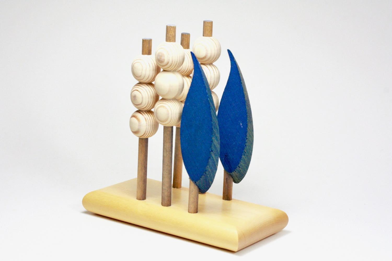 画像1: 北欧インテリアビンテージ雑貨/フィンランド製/aarikka/アーリッカ/木製ペーパーナプキンホルダー/ツリー (1)