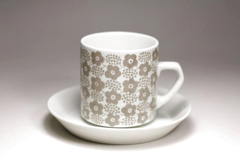 画像1: 北欧ビンテージ食器/ARABIA/アラビア/Rypale/リュパレ/コーヒーカップ&ソーサー/グレー/ No.1 (1)