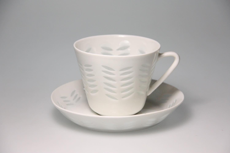 画像1: ARABIA/アラビア/Rice/ライス/ヘリンボーン柄/コーヒーカップ&ソーサー (1)