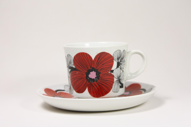 画像1: 北欧ビンテージ食器/ARABIA/アラビア/Isokukka/イソクッカ/コーヒーカップ&ソーサー (1)