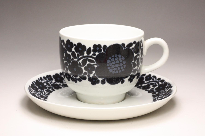 画像1: 北欧ビンテージ食器/ARABIA/アラビア/Suhina/Raija Uosikkinen/コーヒーカップ&ソーサー (1)