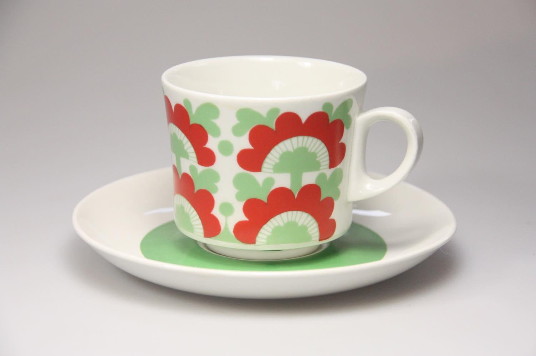 画像1: 北欧ビンテージ食器/ARABIA/アラビア/Unkari/コーヒーカップ&ソーサー/No.1 (1)