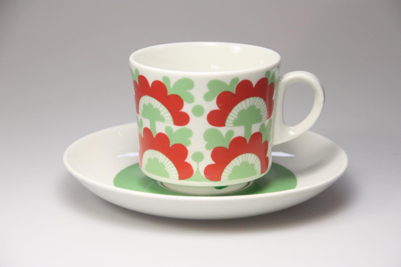 画像1: 北欧ビンテージ食器/ARABIA/アラビア/Unkari/コーヒーカップ&ソーサー/No.2 (1)