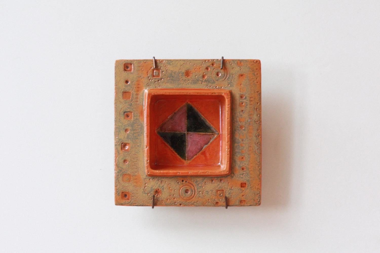 画像1: 北欧ビンテージ/北欧アート/Rut Bryk/ルート・ブリュック/Ashtray/アートオブジェクト/11cm/オレンジ系 (1)