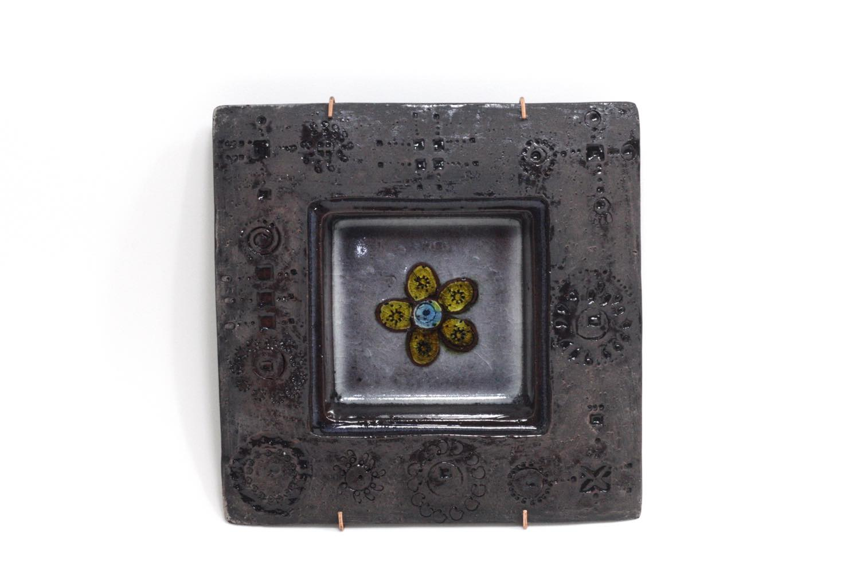 画像1: 北欧ビンテージ/北欧アート/Rut Bryk/ルート・ブリュック/陶板/アートオブジェクト/ダークモーブカラー (1)