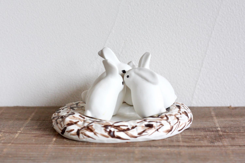 画像1: ARABIA/アラビア /Helja Liukko Sundstrom/ヘルヤ・リウッコ・スンドストロム/ウサギの巣 (1)