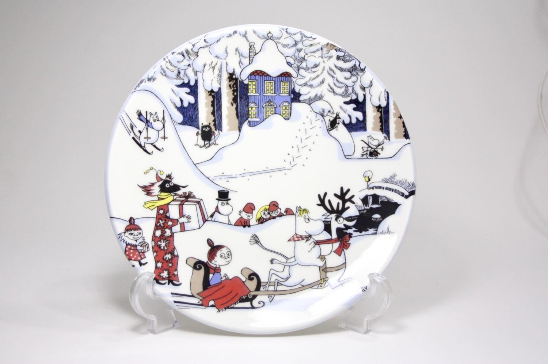 画像1: 北欧ビンテージ雑貨/ARABIA/アラビア/ムーミン廃盤/ウォールプレート/New Christmas Plate/19.5cm (1)