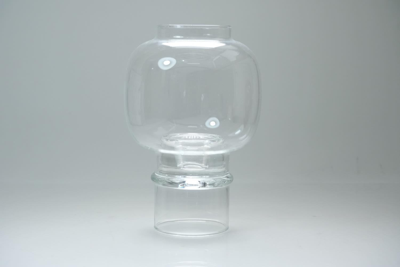 画像1: 北欧ビンテージガラス/ARABIA/NUUTAJARVI/ヌータヤルヴィ/キャンドルホルダー&キャンドルスタンド/クリア (1)