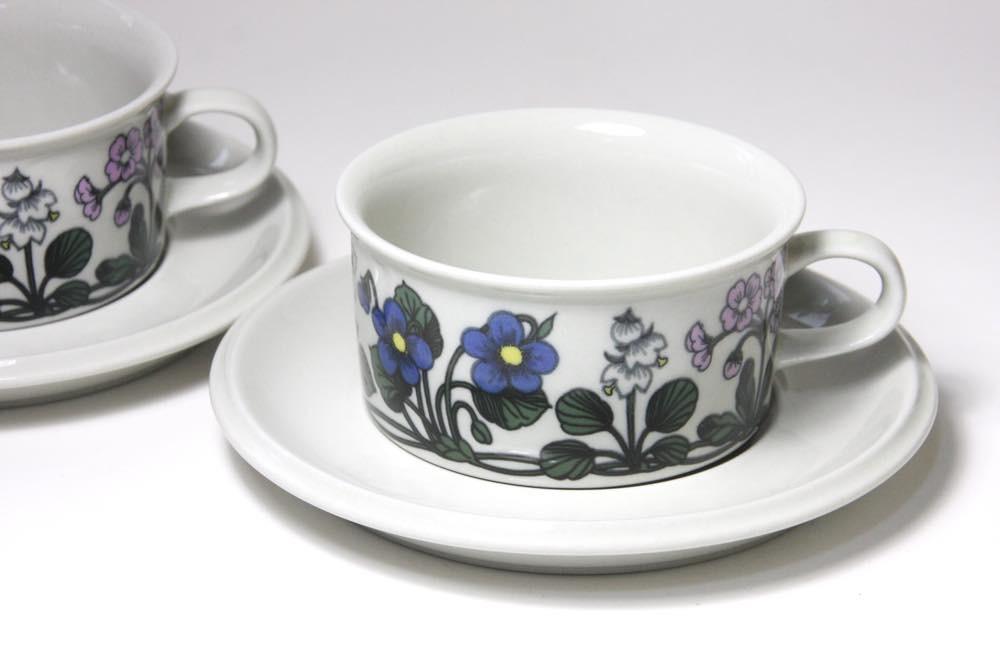 画像1: ARABIA/アラビア /Flora/フローラ/ティーカップ&ソーサー (1)
