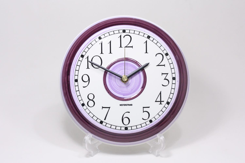 画像1: Rorstrand/ロールストランド/ビンテージ時計/壁掛け時計/サークル/アメジスト/新品クォーツムーブメント使用 (1)