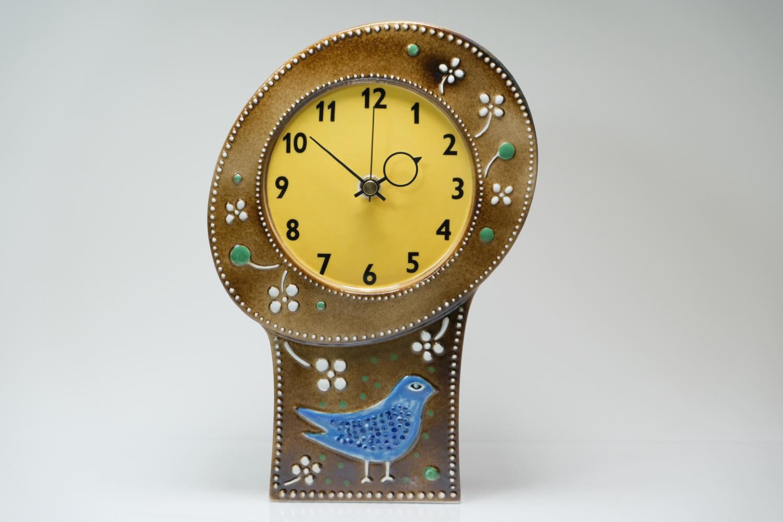 画像1: Rorstrand/ロールストランド/Sylvia Leuchovius/ シルヴィア・レウショヴス/ 置き時計小鳥/キャメル (1)