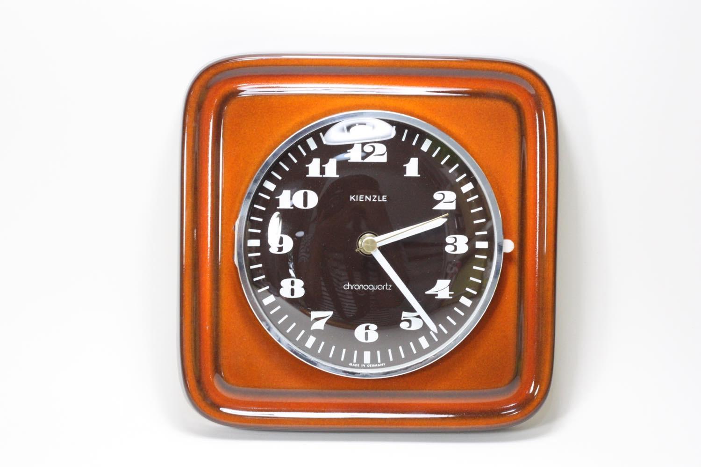 画像1: ビンテージ陶製壁掛け時計/KIENZLE製 /ドイツ/レンガ (1)