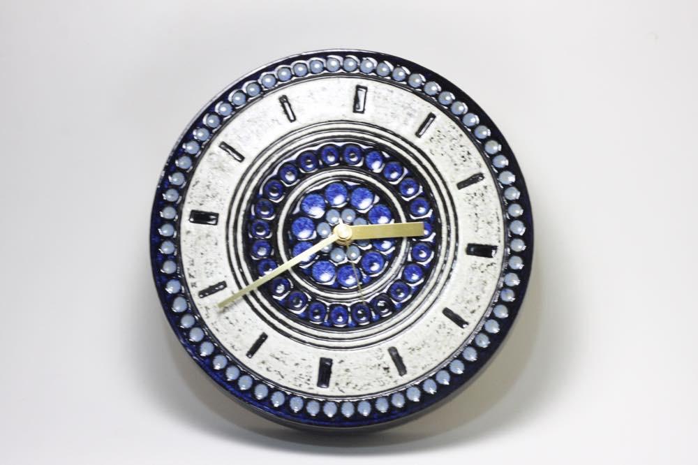 画像1: Gustavsberg/グスタフスベリ/スタジオ制作壁掛け時計/ブルー/新品クロックムーブメント使用  (1)